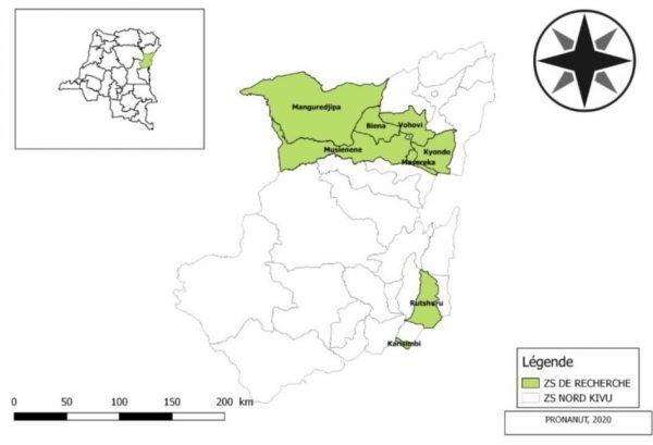 Localisation Des Zones de santé Nutrition PADISS